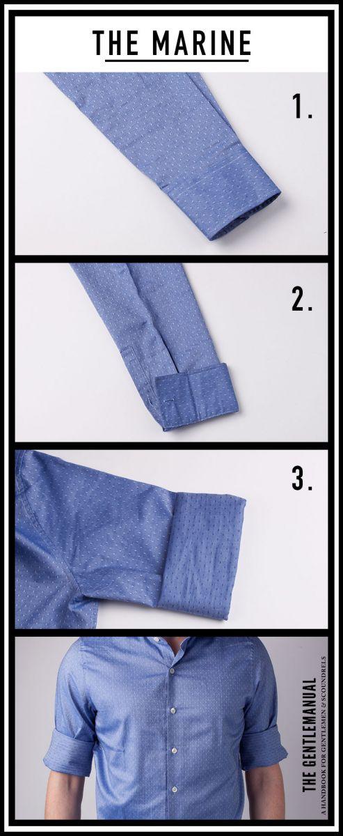 5 cách xắn tay áo sơ mi chất phát ngất