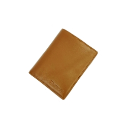 Ví Nam Kiểu Đứng Da Bò Full Grain Leather Eruco ERU08 - Brown